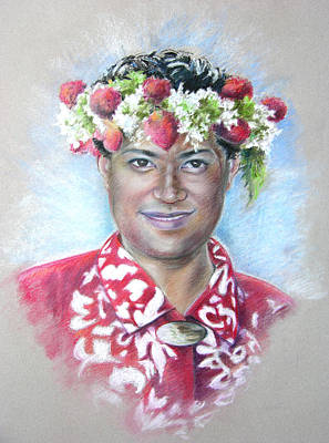 Painting - Man From Papeete In Tahiti by Miki De Goodaboom