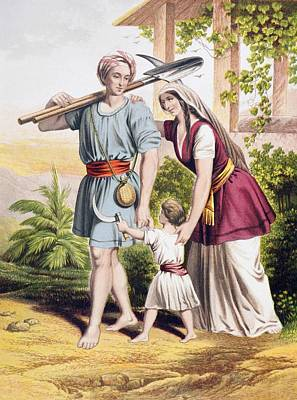 Bible Drawing - Man Goeth Forth Unto His Work And To by Vintage Design Pics