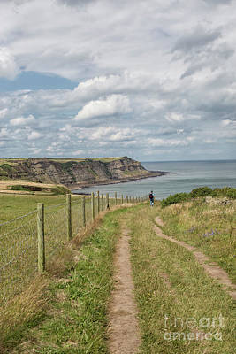 Photograph - Man Hiking In Yorkshire by Patricia Hofmeester
