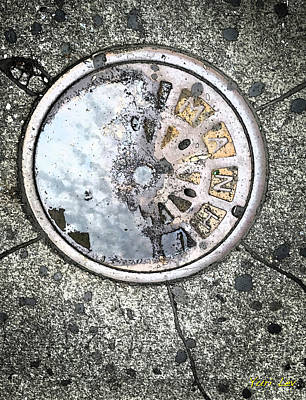 Photograph - Man Hole Cover by Yuri Lev