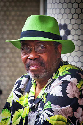 Photograph - Man In A Green Panama by John Haldane