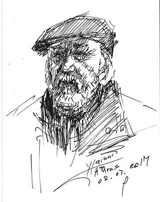Man In A Hat Original by Ylli Haruni