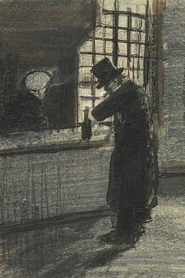 Snifter Painting - Man In A Village Inn, 1883 by Vincent Van Gogh