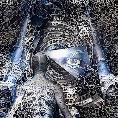 Surrealism Digital Art - Man in abstract by Bruce Rolff