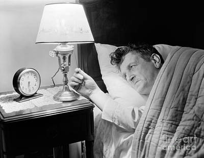 Insomniac Photograph - Man In Bed by H. Armstrong Roberts/ClassicStock