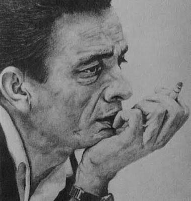 Johnny Cash Drawing - Man In Black by Kate R