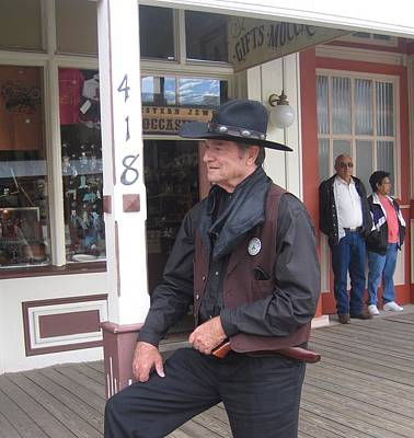 Advertising Archives - Man in black re-enactor Allen Street Tombstone Arizona 2004 by David Lee Guss