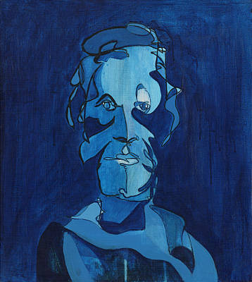 Painting - Man In Blue by John Gibbs