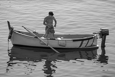 Photograph - Man In Boat Italy by John McGraw