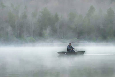 Photograph - Man In Boat On Spruce Knob Lake by Dan Friend