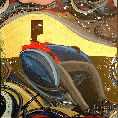 Painting - Man In Chair 2 by John Lyes