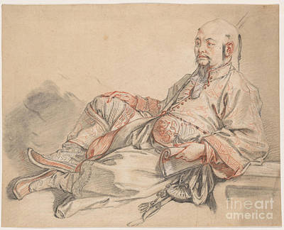 Chinese Man Painting - Man In Chinese Costume by Celestial Images
