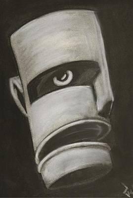 Man In Closet 2 Art Print by Rick Stoesz