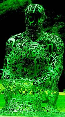 Man In Green Art Print