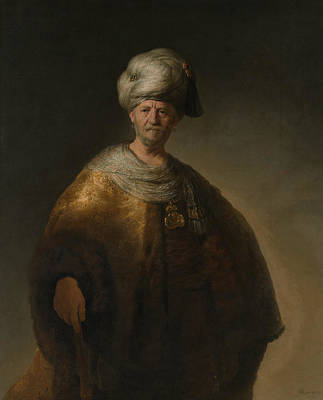 Painting - Man In Oriental Costume by Rembrandt