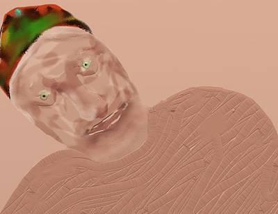 Digital Art - Old Man In Recline by SC Heffner