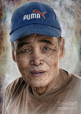 Digital Art - Man In The Cap by Ian Gledhill