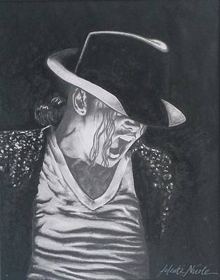 Twiggy Drawing - Man In The Mirror - Michael Jackson by Jeleata Nicole