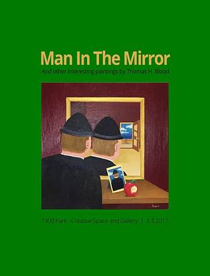 Painting - Man In The Mirror T-shirt by Thomas Blood