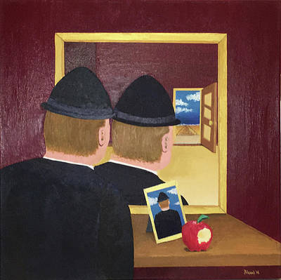 Surrealism Painting - Man In The Mirror by Thomas Blood