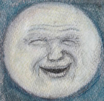 Man In The Moon Original by Jennie Hallbrown