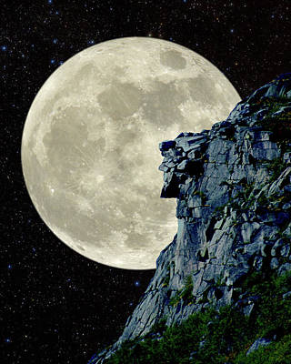 Photograph - Man In The Moon Meets Old Man Of The Mountain Vertical by Larry Landolfi