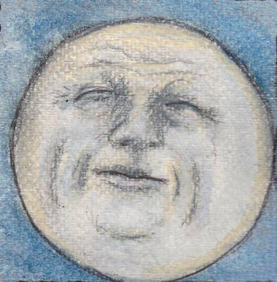 Man In The Moon No.3 Original by Jennie Hallbrown