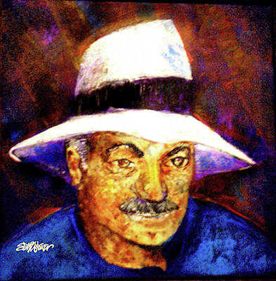 Sethweaver Painting - Man In The Panama Hat by Seth Weaver