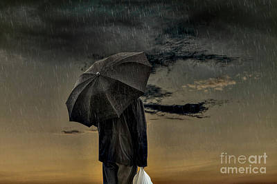 Photograph - Man In The Rain by Eleni Mac Synodinos
