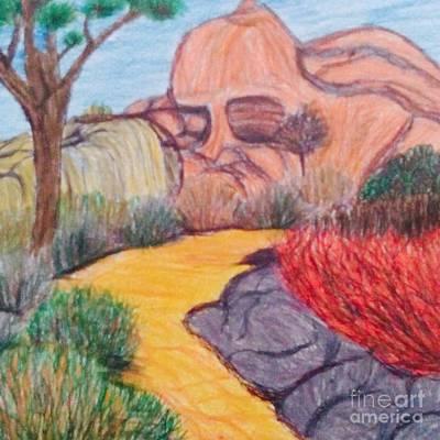 Man In The Rock  Art Print by Ishy Christine Degyansky