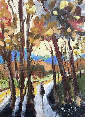 Impressionism Painting - Man In The Woods by Roxy Rich