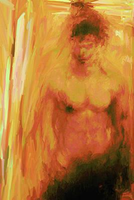 Digital Art - Man In Yellow by Matt Lindley
