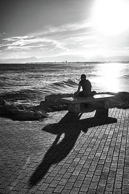Photograph - Man Looking At The Sea In Spain by Eduardo Jose Accorinti