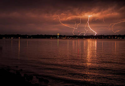 Photograph - Man Made And Natural Lightning by John Crothers