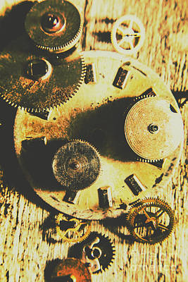 Gear Photograph - Man Made Time by Jorgo Photography - Wall Art Gallery