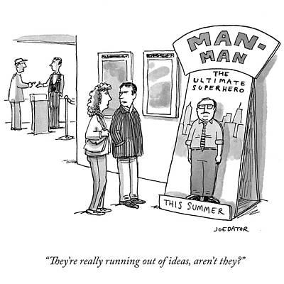 Drawing - Man-man by Joe Dator