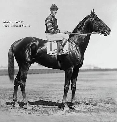 Man O War, Belmont Stakes, 1920 Art Print