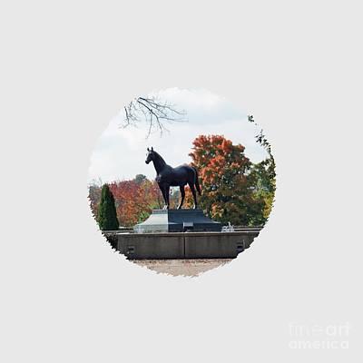 Kentucky Horse Park Photograph - Man O' War Statue For T Shirts by Roger Potts