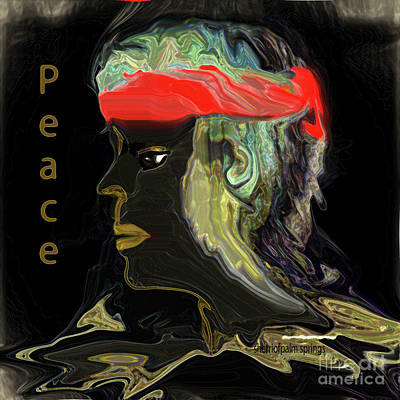 Digital Art - Man Of Peace by Sherri Of Palm Springs