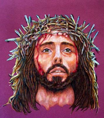 Man Of Sorrows No 3 Art Print by Edward Ruth