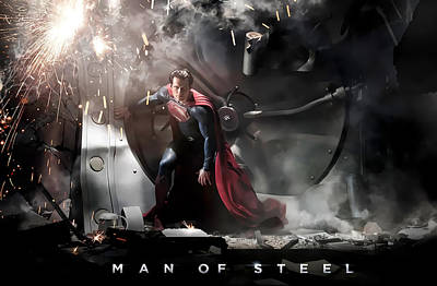 Graphic Digital Art - Man Of Steel by Maye Loeser