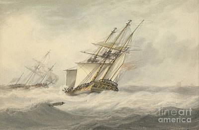 Man Of War In Full Sail, Art Print