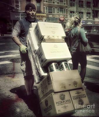 Photograph - Man On A Mission - New York by Miriam Danar