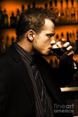 Drinker Photograph - Man On Hard Stuff by Jorgo Photography - Wall Art Gallery