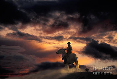 Photograph - Man On Horseback by Ron Sanford and Photo Researchers