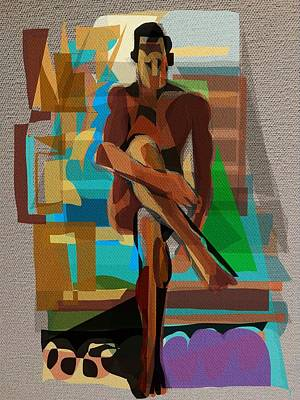 Digital Art - Man On Stairs by Clyde Semler
