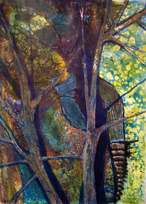 Painting - Man On The Edge by Laurie Salmela