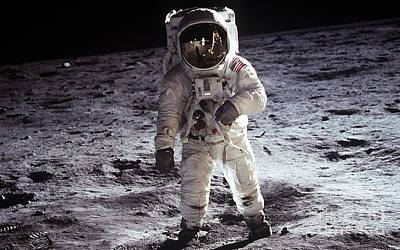 Aldrin Photograph - Man On The Moon 11 by Jon Neidert