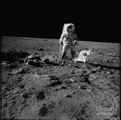 Aldrin Photograph - Man On The Moon by Jon Neidert