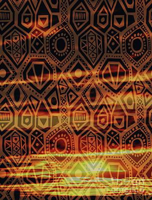 Digital Art - Man One Tribe Under God by Donna L Munro